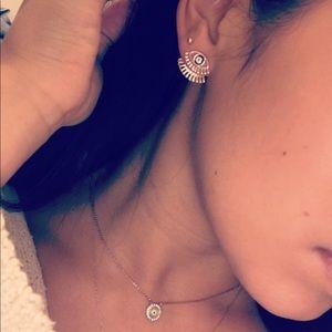 Jewelry - 🆕 Double back evil eye stud earrings